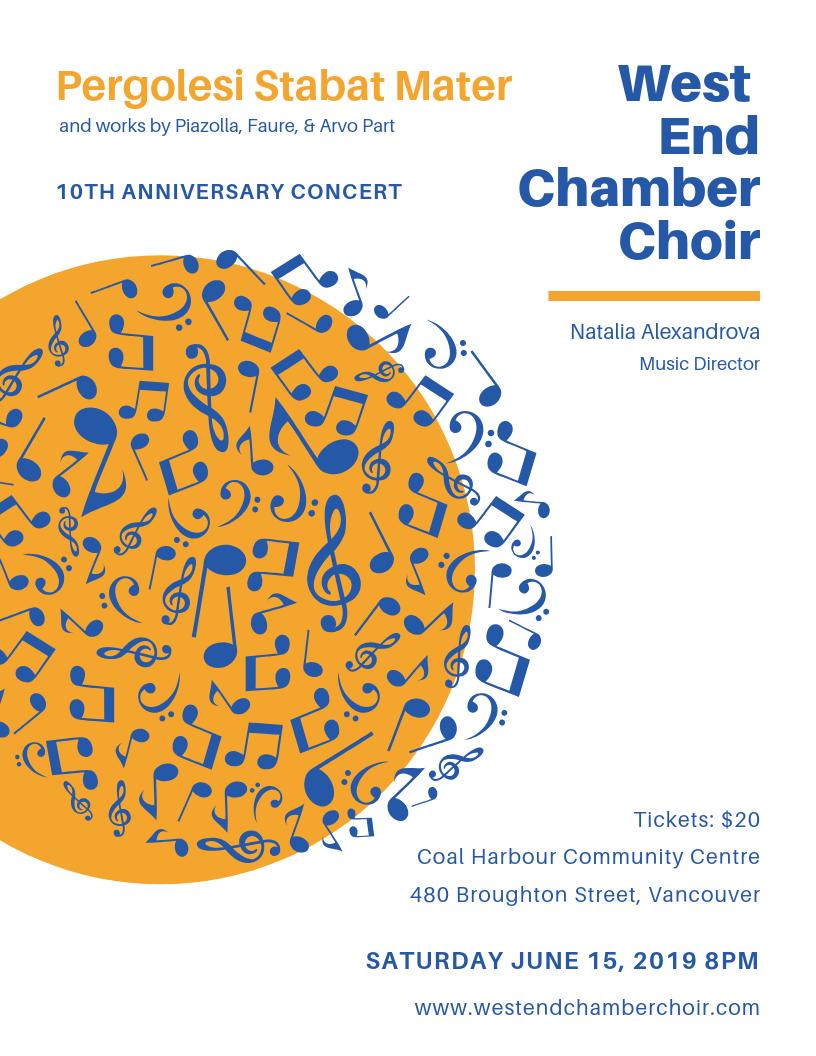 West End Chamber Choir 2019